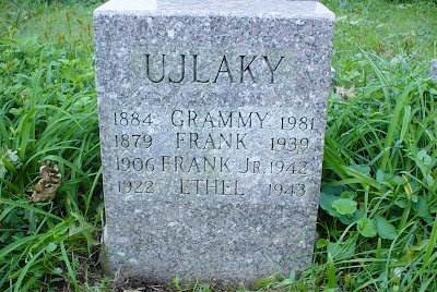 """G is for Grammy's Gravestone"" - the final resting place of the Ujlaky family of Staten Island, New York"