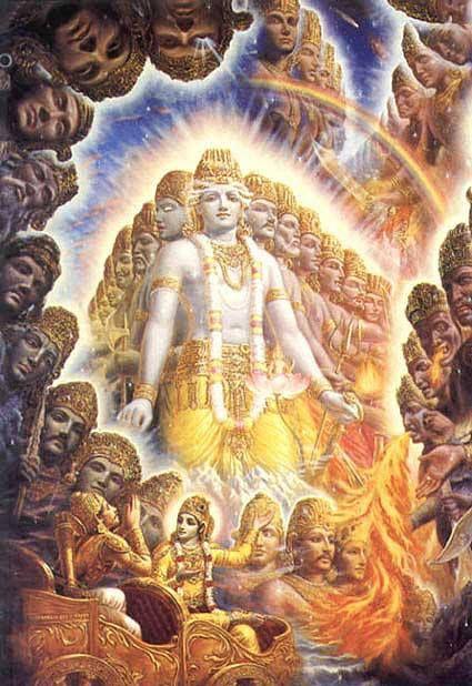 Passo del Mahabharata e della Bhagavad Gita in cui Krishna rivela all'eroe Arjuna i molteplici suoi aspetti
