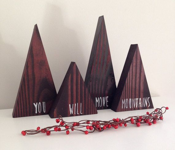 You Will Move Mountains Decor by SparrowandScout on Etsy