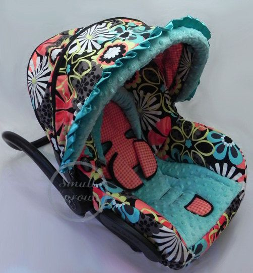 Custom Boutique Cutie Floral Maxi Cosi Mico Infant Car Seat Cover-Ready To Ship. $149.00, via Etsy.