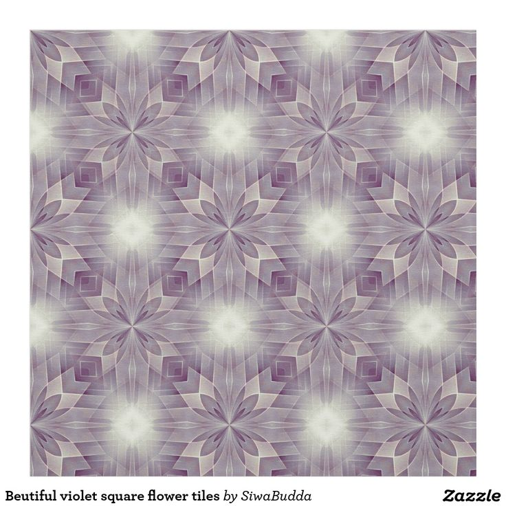Beutiful violet square flower tiles fabric