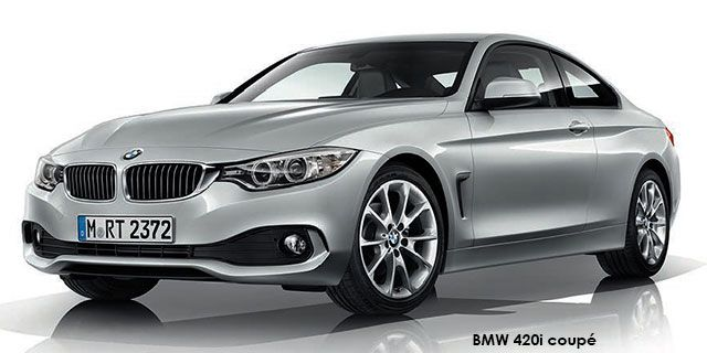 BMW 4 Series 428i coupé   price : R520,988.00  Engine size : 2.0L turbo Fuel type : Petrol Fuel tank range average : 909km Fuel tank capacity including reserve : 60L Max top speed : 250km/h 0-100km/h : 5.9seconds Gearbox : Manual