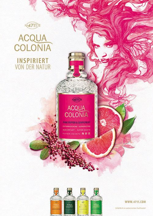 4711 Acqua Colonia Pink Pepper & Grapefruit #fragrance
