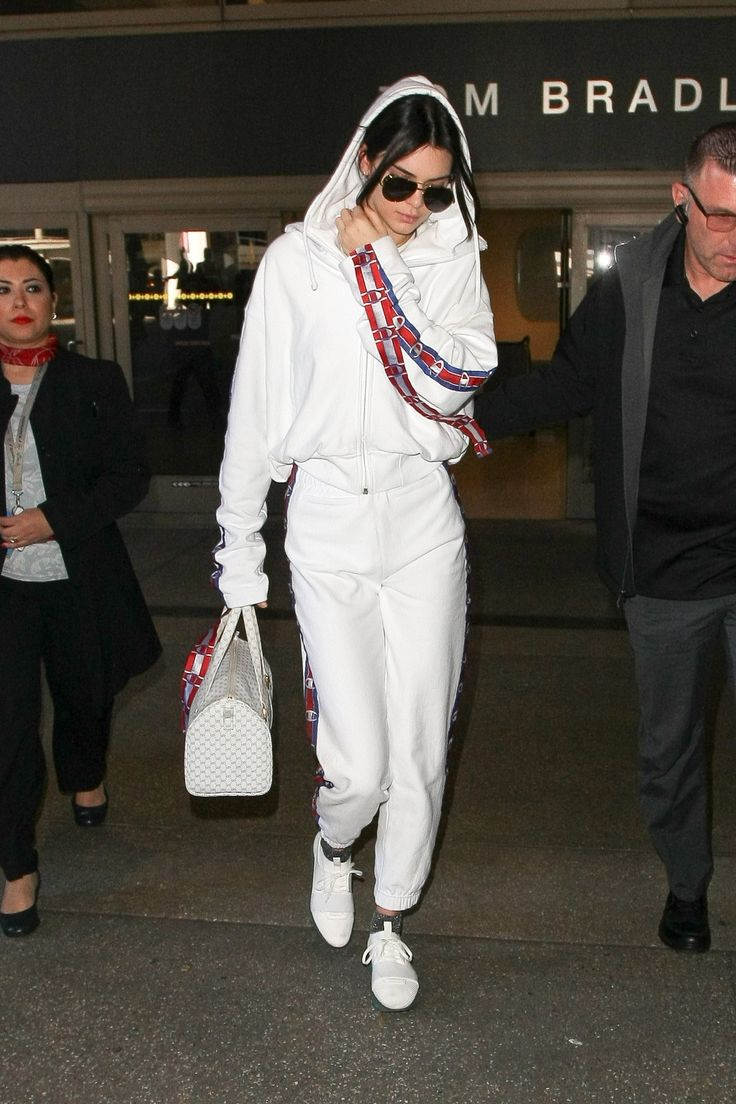 Kendall Jenner's latest airport look comes courtesy of buzzy fashion brand Vetements.