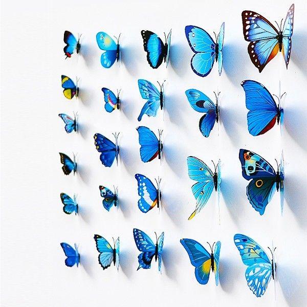 Хотите создать придать уникальную атмосферу в вашей комнате или офисе, создать атмосферу праздника? Вам помогут - эти уникальные 3D бабочки.