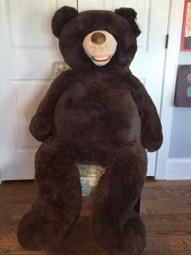 New-Hugfun-International-Plush-Tall-Soft-Dark-Brown-Jumbo-Big-Large-Teddy-Bear