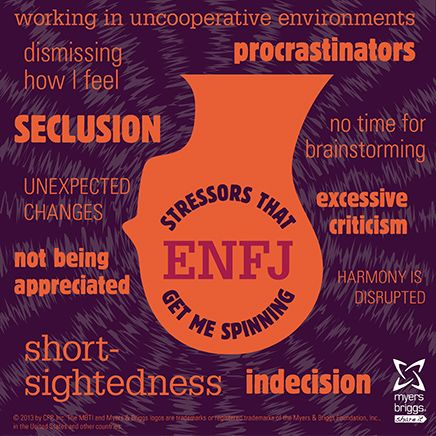 Stressors that get me spinning: check out this ENFJ stress head!