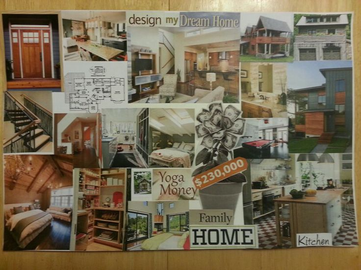 My Dream Home Vision Board 2014 Home Family Home Kitchens Home