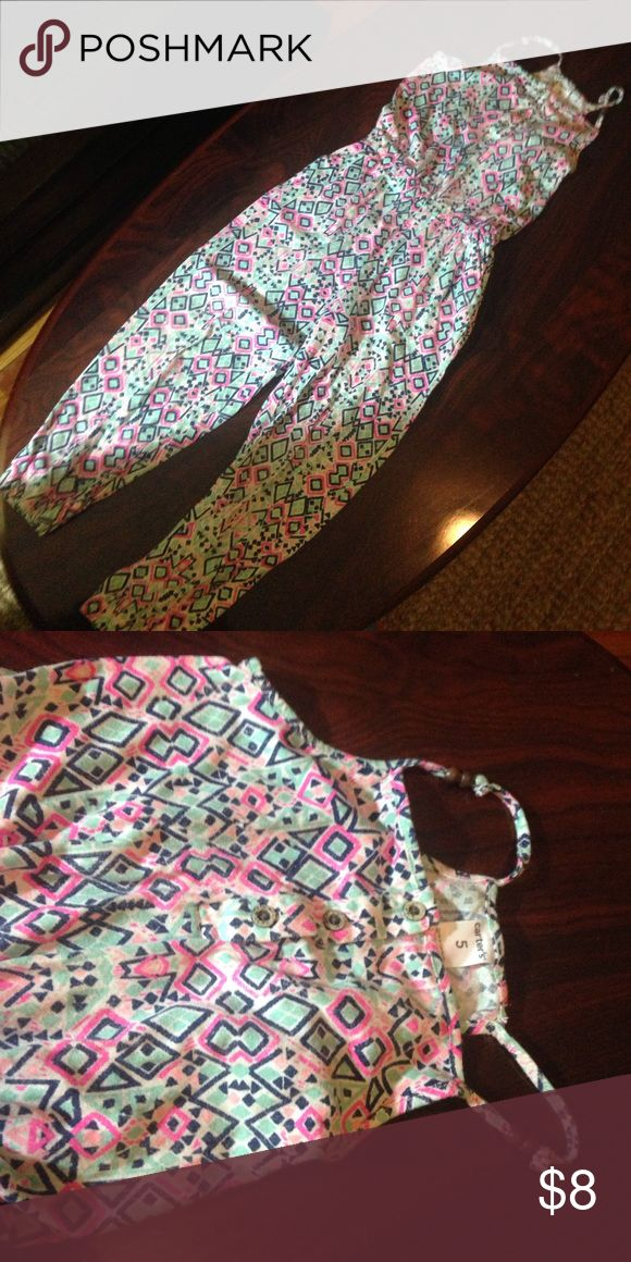 Jumpsuit for girls (Carter's) Colorful jumpsuit . Great for Spring!! Bottoms Jumpsuits & Rompers