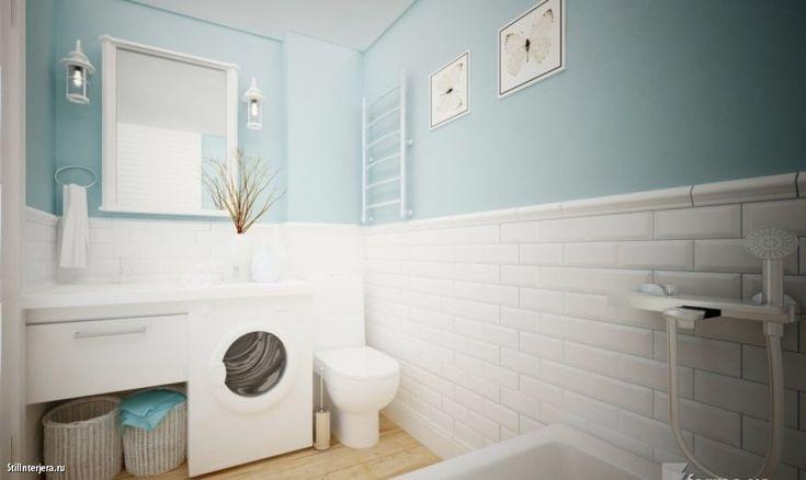 скандинавский стиль в интерьере квартиры ванны