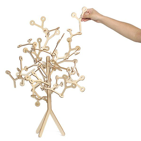 """Wooden building blocks Kids love these plant-like forms that are fun and easy to handle. Yo features a main structure (the trunk), perfect for """"grafting"""" the add-on modules (the leaves). Imagination comes into play with these easy-to-assemble building blocks. A great gift, sure to delight the whole family!"""