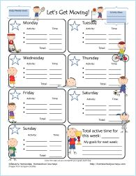 One of the standards in physical education is to promote lifelong fitness, and physical fitness outside of school. Would provide a great way for students to log activity minutes outside of school. Then being able to compare the days. Seeing which days have more or less active minutes, and then using cognitive skills to evaluate why that is. I found this on Pinterest.