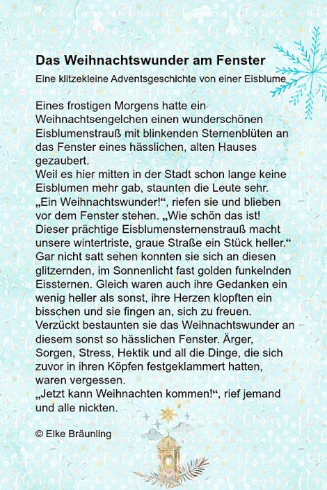Das Weihnachtswunder am Fenster.jpg – Märchenfrau – Geschichten, Märchen und Gedichte