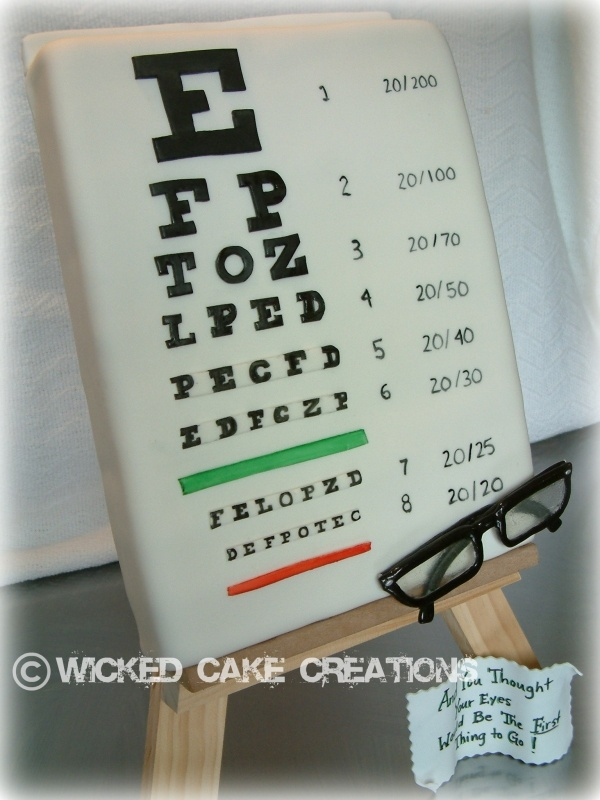 Eye Chart Cake Over The Hill Can Just Be A Wall