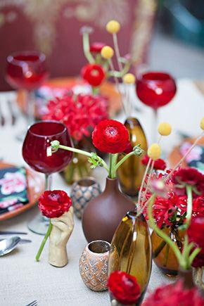 Red Wedding Flower Ideas