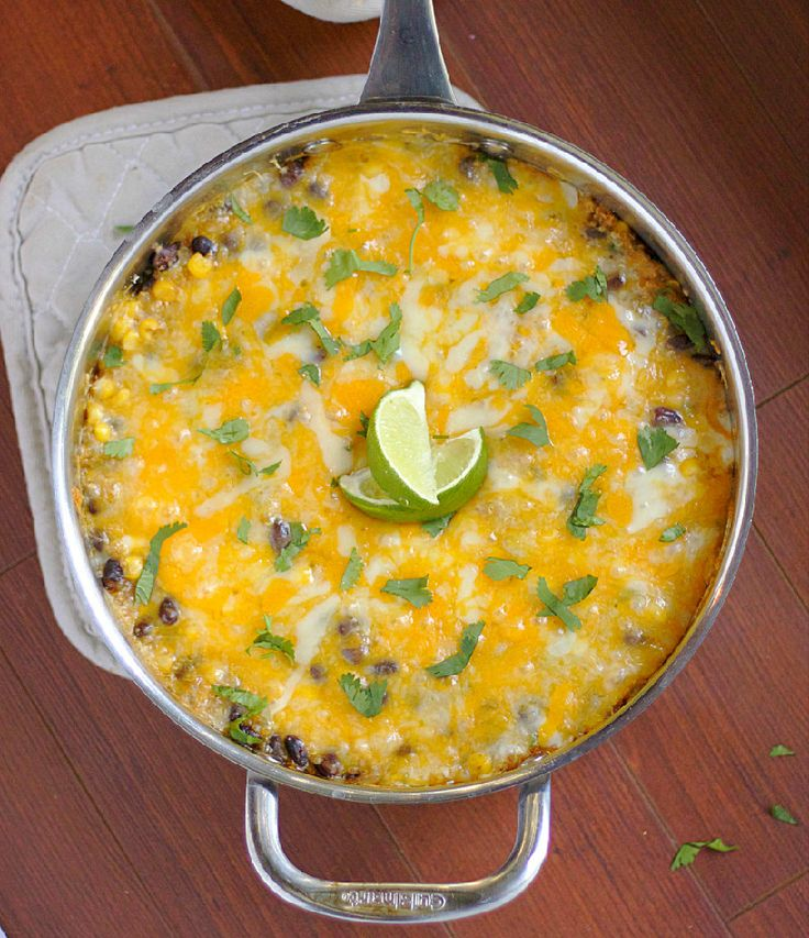 Quinoa Enchilada Casserole - Basil And Bubbly