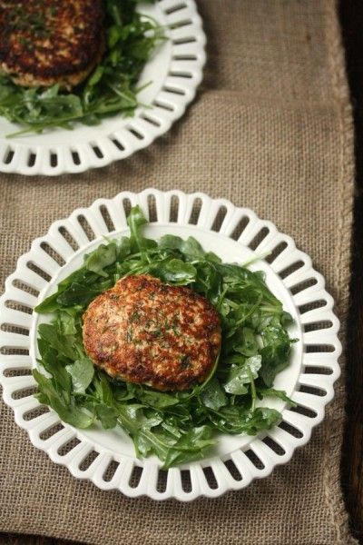 Gluten-free seared salmon burgers with dill and Dijon from @Phoebe Lapine.