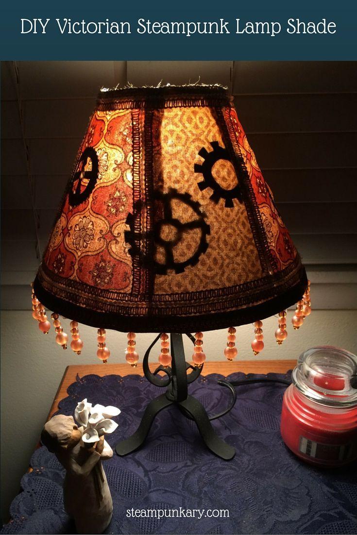 DIY Victorian Steampunk Lamp Shade | Victorian steampunk ...