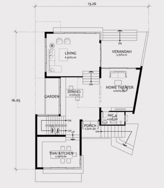 Home Design Plan 13x17m With 3 Bedroom House Plan Map Home Design Plan Architectural House Plans How To Plan