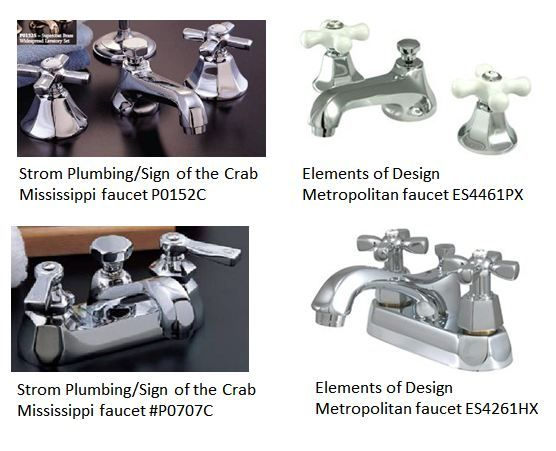 retro bathroom faucets.                               --like #P0707C