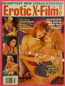 Ebay Item: Vintage EROTIC X-FILM GUIDE Magazine March 1987   Jackie Lorians Erica Boyer!