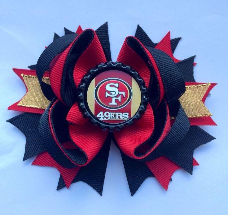 NFL 49ers Hair Bow