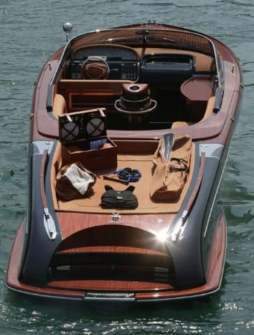 Modern day wood boat. Very hot and sexy boat