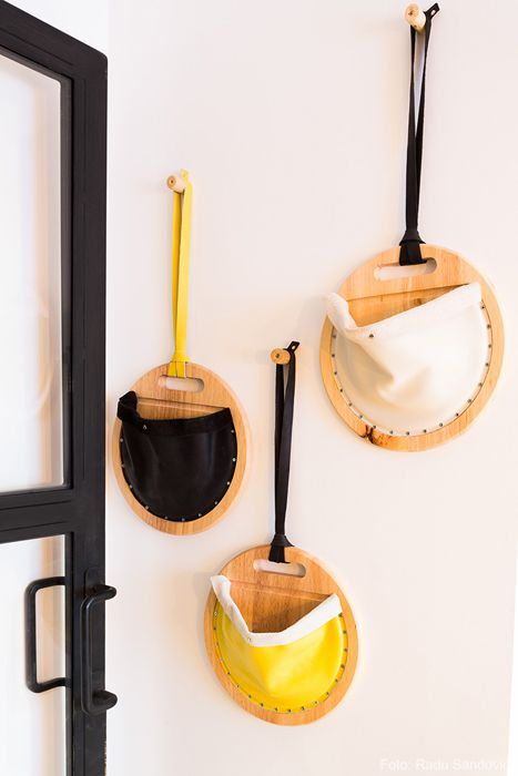 Leather wall pockets - by Design Your Space