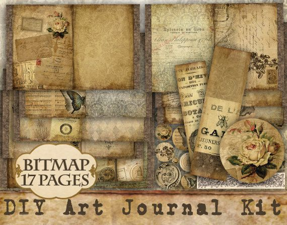 27 best do it yourself journal kits images on pinterest journals instant download digital downloads digital art journal by bitmap 1695 solutioingenieria Choice Image