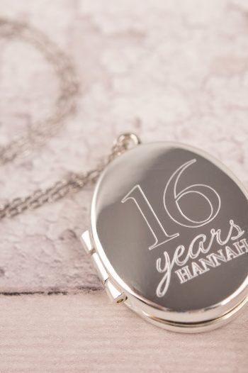 Engraved Oval Shaped Locket Necklace 16 Years 220x330 Sweet 16th birthday Gift Ideas