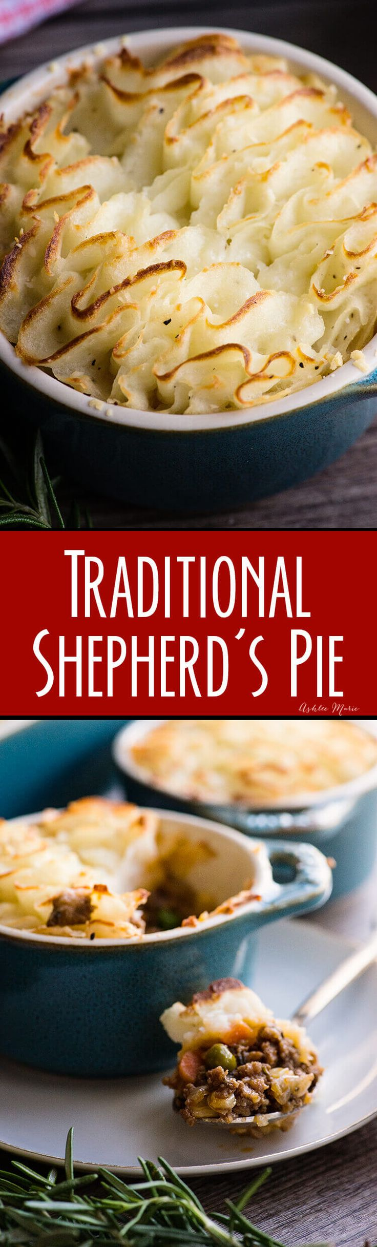 this traditional shepherds pie recipe is easy and delicious - the meat mixture is full of flavor and the mash is creamy and flavorful