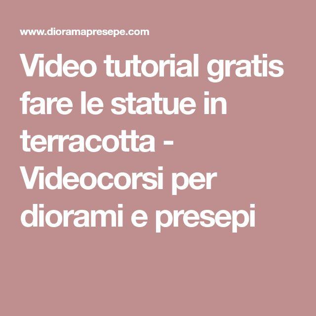 Video tutorial gratis fare le statue in terracotta - Videocorsi per diorami e presepi