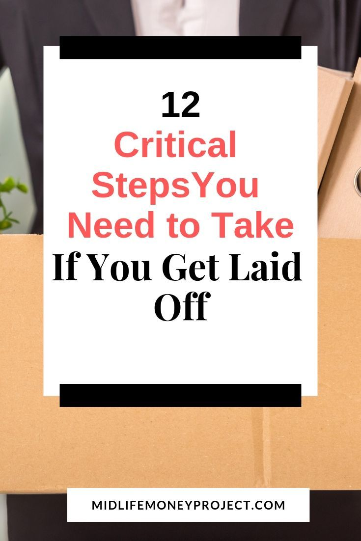 What To Do When You Are Laid Off From Work