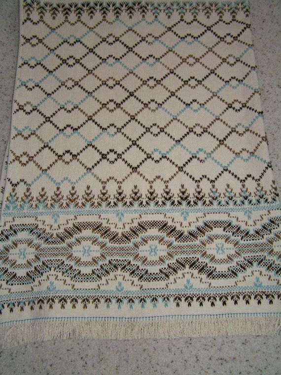 Natural Swedish Weaving Blanket - Precious Gem