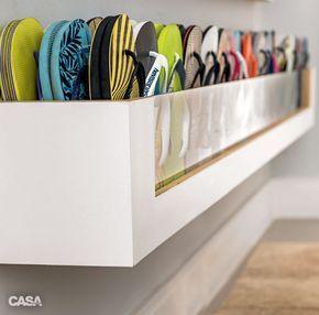 Organize seus sapatos: seis ideias de sapateiras - Casa