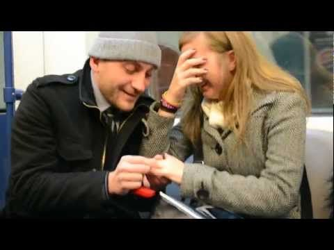 ▶ BEST Marriage Proposal in Subway EVER!!, Bulgaria 2012 - YouTube