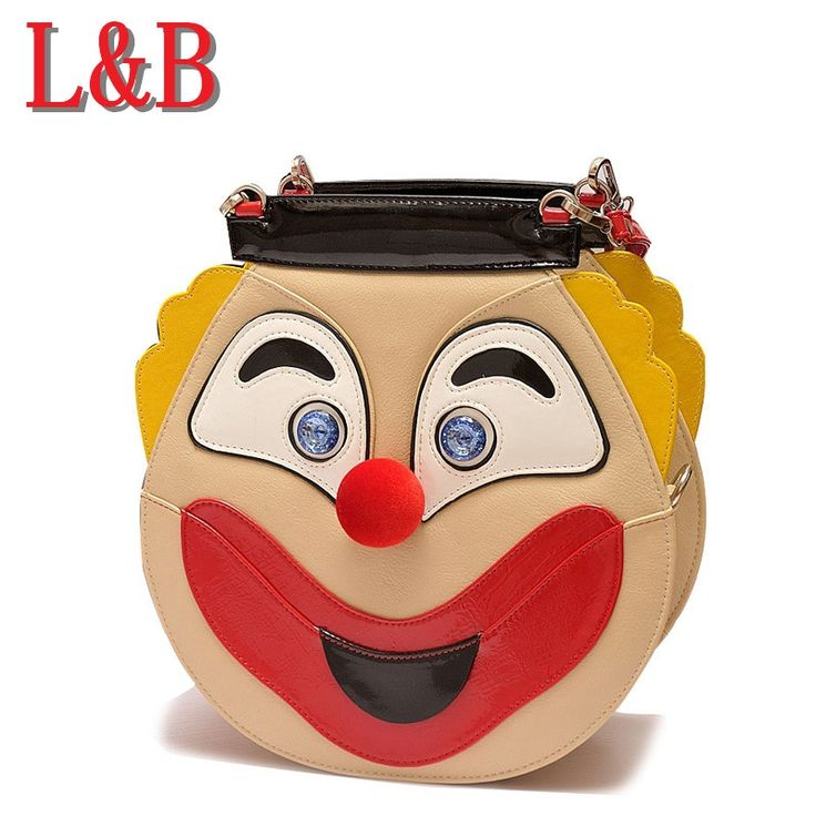 52.88$  Watch now - http://alifwb.worldwells.pw/go.php?t=32715960688 - Exclusive bags smiley clown laughing and crying sided alternative package funny personality characteristics wonderful handbags