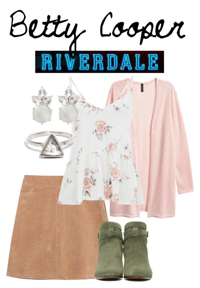 Betty Cooper by weasleysweaters on Polyvore featuring polyvore, fashion, style, See by Chloé, Yves Saint Laurent, clothing, betty, riverdale, bettycooper and lilireinhart