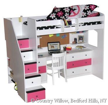 9 Best Images About Girls Beds On Pinterest Loft Beds Girl Loft Beds And Kids Bunk Beds
