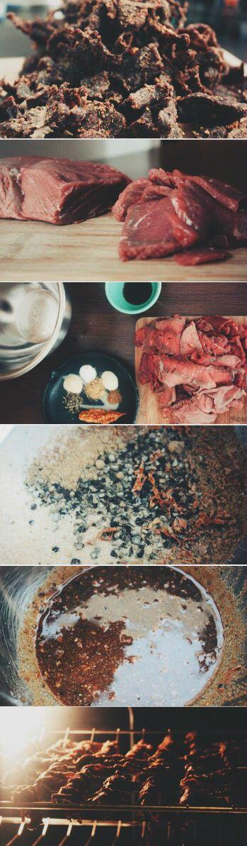 Oven Dried Bourbon Beef Jerky Recipe - the BEST jerky recipe around.