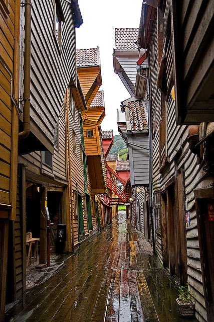 Old Wharf (Bryggen) in Bergen, Norway
