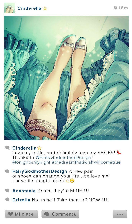 Si les personnages de Disney avec un compte Instagram ?
