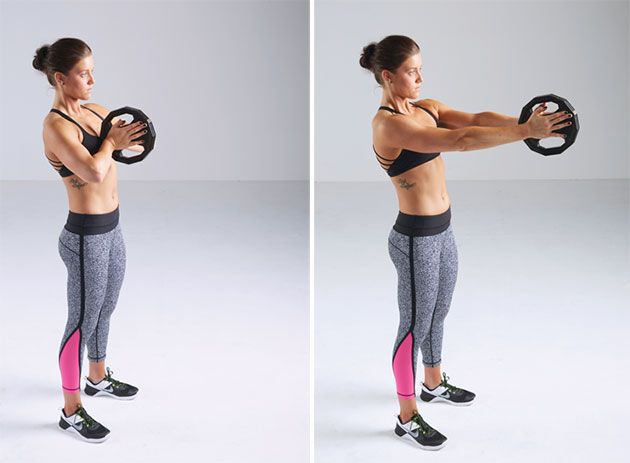 This unique move targets the chest and and rear delts. Here's to do it.