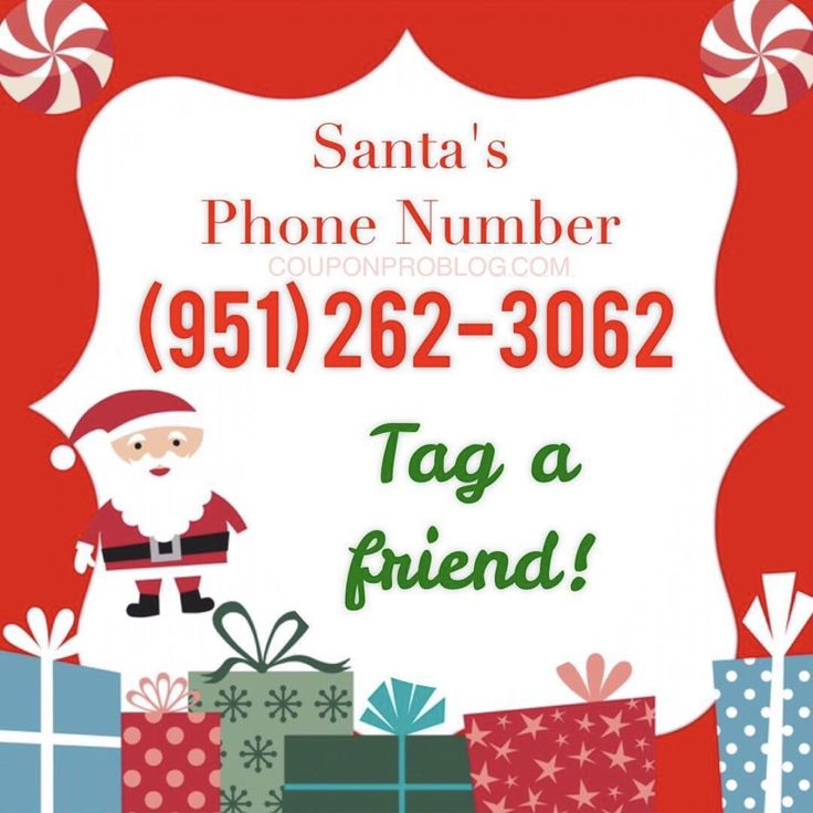 Have you called Santa Claus yet? Gather round all the kids, grandkids, nieces, nephews, friends, and neighbors and call Santa's phone number at (951) 262-3062 to let him know your Christmas wishes. So much fun! 🎅🏼🎄☎️