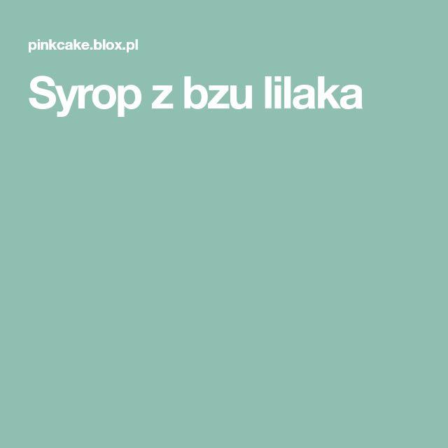 Syrop z bzu lilaka