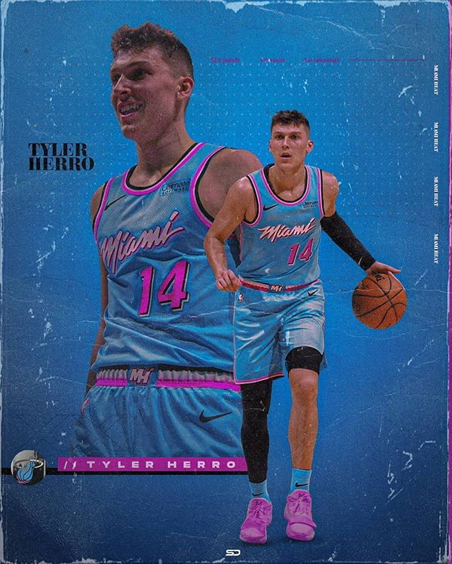 Splash Design On Instagram Tyler Herro Miami Heat Nolimitherro Inspired By Knxghtdzn Check Him O In 2020 Nba Pictures Kobe Bryant Pictures Miami Heat Basketball