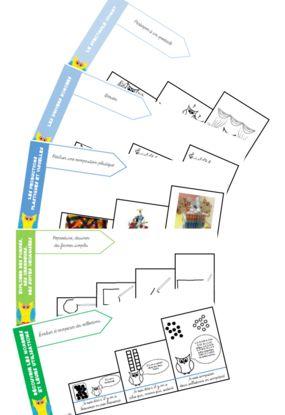 Cahier de progrès de maternelle (3niveaux, illustrés) la classe de jenny