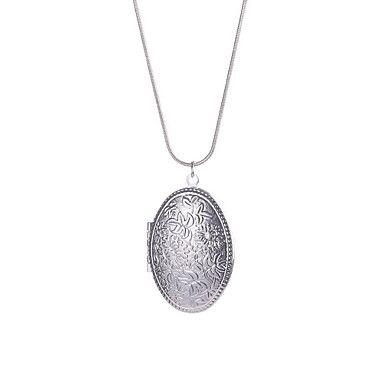 Dames Hangertjes ketting Sieraden Cirkelvorm Sterling zilver Basisontwerp Cirkelvormig ontwerp Kostuum juwelen Sieraden Voor Dagelijks