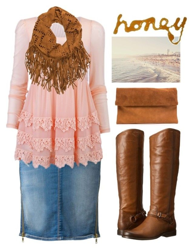 """Pentecostal outfits"" by lizzie2461 ❤ liked on Polyvore featuring Hudson and Frye"