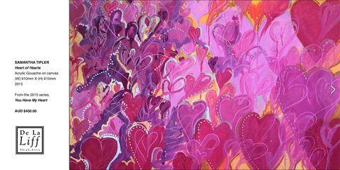HEART OF HEARTS by Samantha Tipler at De La Liff